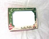 Vintage Christmas Santa Sleigh Ornament Box Digital Craft File Printable INSTANT DOWNLOAD