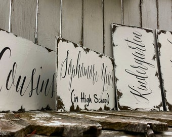 BRIDESMAIDS SIGNS, WEDDING Signs, Wedding Photo Props, Wedding Party Signs, Shabby Chic Wedding Signs, Double Sided, Chalkboard Signs