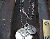 double Marrakesh ... pink tourmaline necklace