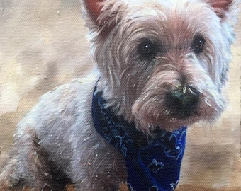 Westie Dog Portraits - Westie Paintings - Oil Portrait