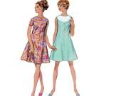 60s uncut Color Block Dress pattern Swing dress vintage 34-25.5 36 Bust 34 Aline Dress fit and flare Geometric mondrian simplicity 7534