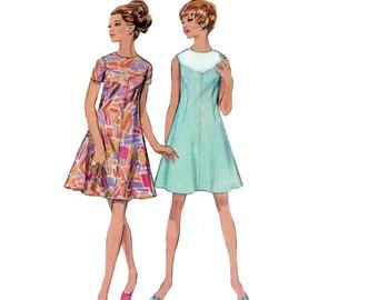 60s uncut Color Block Dress pattern Swing dress vintage 34-25.5 36 Bust 34 Aline Dress fit and flare Geometric mondrian