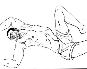 Original Drawing - Male 09