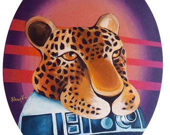 Digital PRINT R2D2 in Disguise as a Jaguar  8.5 x 11