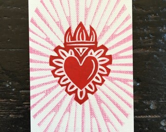 Sacred Heart Stamp ACEO