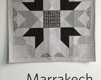 Marrakech, a PDF modern quilt pattern in two sizes by Heather Jones