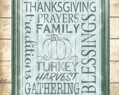 Thanksgiving Subway Art Cutting File - Thanksgiving SVG - Digital svg, dfx, png and jpg files available for instant download