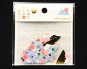 Mount Fuji Stickers - Japanese Stickers - Chiyogami Paper Stickers -   Japanese Sticker  Flakes   (S137)