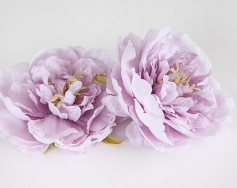Medium Lavender Peony -  4.5 Inches - Silk flower - Artificial Flower - may be less than perfect - ITEM 0257