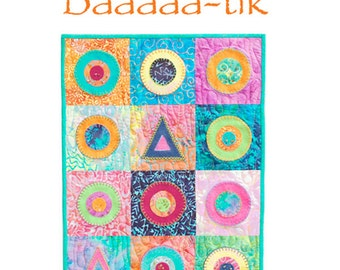 Quilt pattern for felted wool and Batik