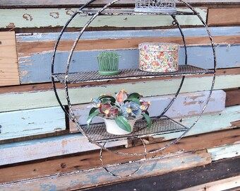 Free Shipping Metal Round Shelf for Bathroom or kitchen Circle Funky Retro