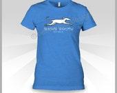 PRE-ORDER Dewey Beach Coordinates shirt - Greyhound tee - Pick-up in Dewey Beach - LADIES Cut - Greyhound - Royal Heather Blue