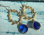 Blueberry Wreath Chandelier Earrings