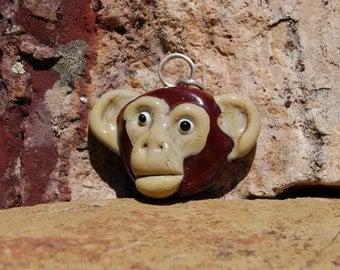 Monkey Business Pendant - K O Lampwork Beads - SRA