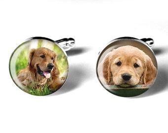 Pet Photo Cufflinks, Personalized Cufflinks, Custom Cufflinks, Memorial Keepsake, Dogs, Cats, Wedding, Birthdays, Handmade, Remembrance Gift