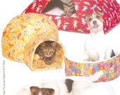 Cat Pyramid house Dog Furball Bed Gifts for pets Cozy Critters sewing pattern Butterick 5903 All sizes included UNCUT