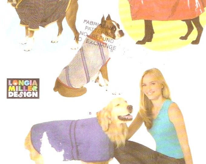 Pet Dog coats and rain slicker Longia Miller design sewing pattern Simplicity 4300 Extra Large UNCUT