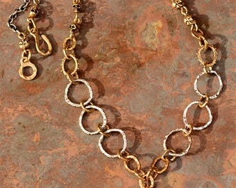 Spanish Reale Coin Necklace, Treasure Jewelry, Bronze and Sterling Silver