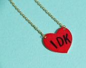 IDK Heart Necklace