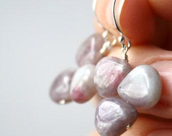 Purple Gemstone Earrings . Healing Jewelry . Purple Jasper Earrings . Nature Inspired Jewelry . Natural Stone Earrings - Cayman Collection