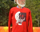 vintage 80s sweatshirt MARCHING BAND high school blackhawks red XL Large