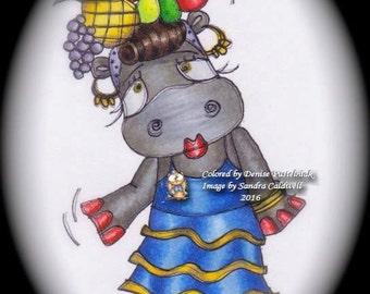 402 Carmen Hippo Digi Stamp