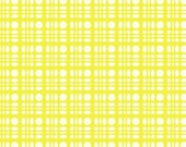 SALE Fabric, Girl fabric, Cotton fabric by the yard, Heather Bailey Clementine fabric- Dot Weave in Lemon, Fat Quarter to Yardage