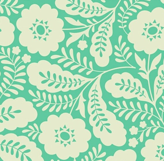 Sale fabric floral fabric girl nursery fabric mint fabric for Nursery fabric sale