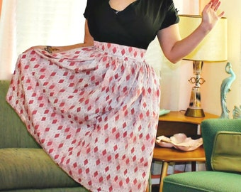 Custom Full Pinup Girl Skirt with Custom Fabric and Sizing Options Including PLUS SIZES
