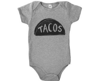 Taco Baby Outfit, Christmas new dad gift, pregnant mom gifts, baby shower gift, photo prop, funny baby gift, newborn onesie, one piece