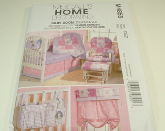 McCall's Baby Room Essentials Pattern M4855 New Reduced Rate