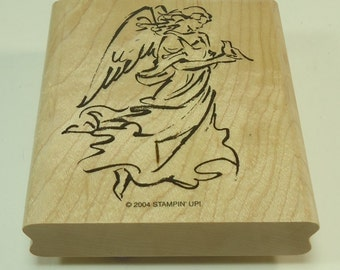Angel Wood Mounted Rubber Stamp By Stampin' Up On Angel Wings