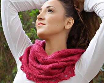 shimmering rubies cowl PDF pattern,knitting pattern, cowl, knit, knitted cowl pattern,