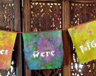 Gypsy Boho Hippies were right garden flags garland