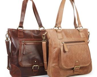 Leather Handbag Tote Shoulder Bag