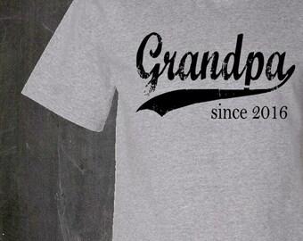 Grandpa since . personalized mens tshirt