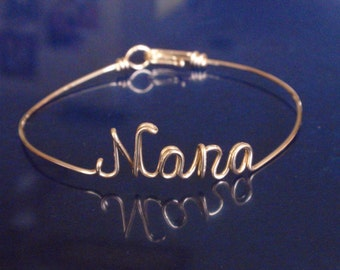 Nana,Noni, Mimi,ANY Grandmother Name called  Custom Handmade Bracelet.14 K Gold Filled ,14 K Rose Gold fill ,Sterling Silver 925 , Gift