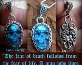Cerridwen Favor talisman of Harvest Magic Wisdom  Transformation  regeneration  skull and unicorn