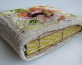 Exclusive Wood book in silk embroidery Guest book Wood book