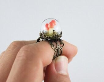 Natural Jewelry,Glass Terrarium Ring,Terrarium Jewelry,Terrarium Jewellery,Natural Ring,Real Moss Ring,Fairy Garden,Natural Moss Jewelry