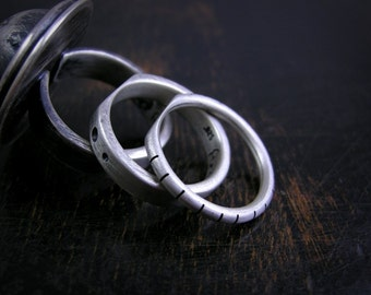 Made to order under setting stack ring set to support large loose rings and look cool n stuff