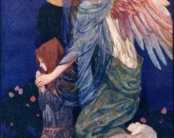 W Russell Flint The Guardian Angel 1906 Edwardian Print to Frame