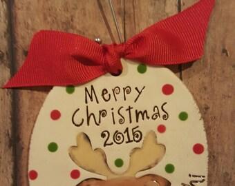 Christmas Ornament, Large Reindeer ornament, christmas tree ornament, reindeer