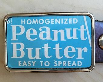 Vintage Peanut Butter Belt Buckle.  Belt Buckles for men and women. Fun gift for men.