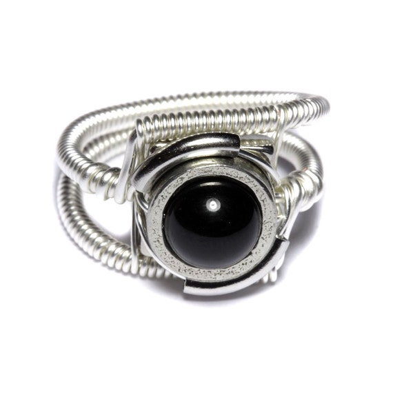 Steampunk Jewelry - Ring - Black Onyx