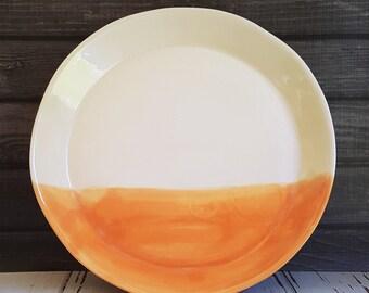 Dinner Plate, Serving Plate, Large Plate, Dinnerware, Modern Home Decor, Modern Table Top, Modern Dinnerware, Robin's Egg Blue, Dipped Plate