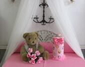 Bed Canopy Crib Crown Pink Hot white frame Disney bedroom cornice girls SaLe Decor SALE