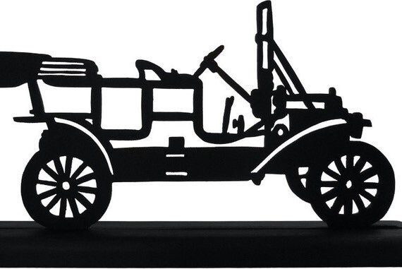 1911 Ford Automobile Handmade Display Wood Silhouette Decoration  stra008