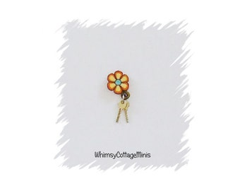 Dollhouse Miniature Keys Keychain - 1/12th Scale