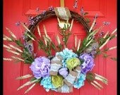 Spring Wreath, Spring door wreath, Wreath, Natural Wreath, Luxury Wreath, Summer Wreath for Door, Year Round Wreath, Made in the USA!
